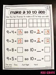 Math : Teaching Mrs T September 2012 Numberbondadditiontomake10png ...