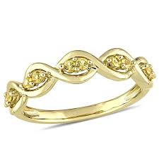 infinity ring gold. 14k 0.26ctw yellow sapphire stackable infinity ring gold
