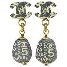 chanel vintage rue cambon no 5 ivory dangle drop evening charm earrings at 1stdibs