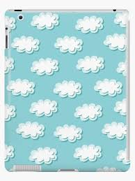 Simple Clouds Pattern Seamless Cute Background Kids Wallpaper Ipad Case Skin By Illucesco