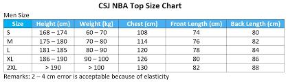 Nba Jersey Size Chart Cheap Nba Jersey Size Chart Size Charts Cheap Nba