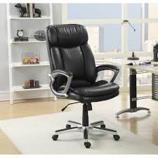 serta executive smooth black big and tall puresoft faux leather office chair free today com 16271183