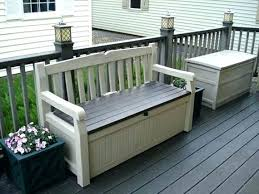 outdoor patio storage bench wing