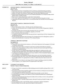Process Engineer Resume Sample Chemical Process Engineer Resume Samples Velvet Jobs 14