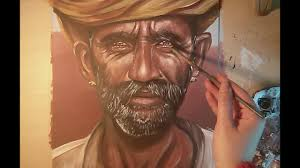 sd painting an indian portrait