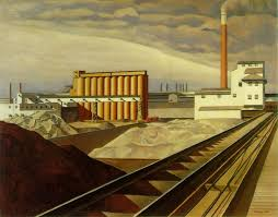 classic landscape by american painter charles sheeler oil on canvas x in via the art history archive