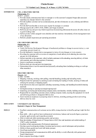 Delivery Driver Resume Examples Delivery Driver Resume Samples Velvet Jobs