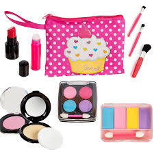 beverly hills kids pretend play makeup cosmetic kit with bright polka dotted cosmetic bag by beverly hills for beauty in new zealand