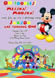 Mickey Mouse Clubhouse 2nd Birthday Invitations Oh Toodles Disney Mickey Minnie Mouse Clubhouse Custom