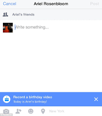 with the new birthday cam users can record a 15 second for