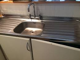 stainless steel single bowl double drainer kitchen sink good condition pretty