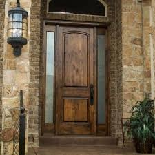details about entry door knotty alder 3080 solid wood front door with sidelites and glass
