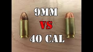 9mm Vs 40 Caliber Head To Head