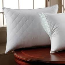 Pillow Protectors For Less | Overstock.com & 300 Thread Count Cotton Sateen Quilted Pillow Protector with Zipper (Set of  2) Adamdwight.com