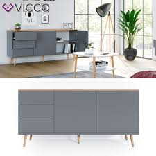 Vicco Sideboard Corona Kommode Schrank In Grau Verfügbar Scandi Look