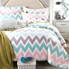 zigzag bedding pink white blue chevron zigzag duvet cover set 4 pieces silk super soft bedding