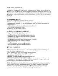 Aesthetician Resume Cover Letter Http Www Resumecareer Info