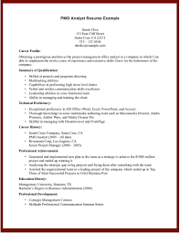 pmo resume sample