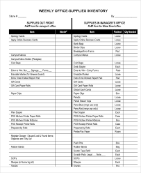 Office Inventory Spreadsheet 7 Office Inventory Templates Free Sample Example Format