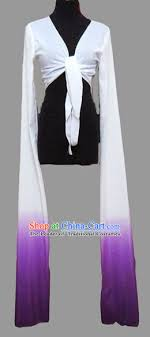 white to purple chinese classic water sleeve costumes for women or girls