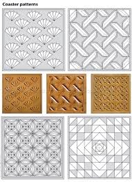 Chip Carving Patterns Classy 48 Coasters Chip Carving Patterns Wood Carving CNC