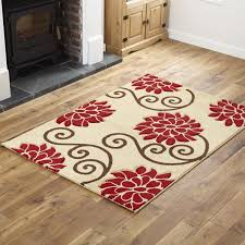 fl biege red runner rug