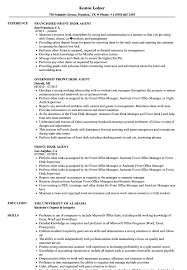 resume for front desk front desk agent resume samples velvet jobs