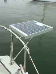 installing a small marine solar system photo gallery by compass a small mooring charging panel