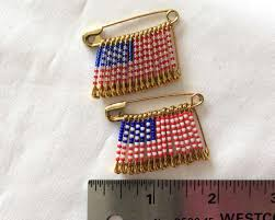 Beaded Safety Pin Designs Us Flag Pin Veteran Day Flag Safety Pin Bead Flag Pin