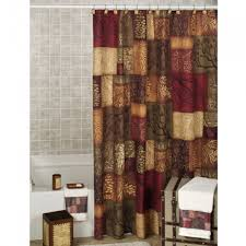 rust shower curtain ruffled shower curtain designer shower curtains