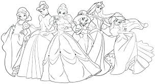 Coloring Pages Of Princesses All Princess Coloring Pages Coloring