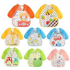 0 3Y Baby Bibs Clothing <b>lovely Baby Bibs</b> Waterproof Long Sleeve ...