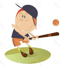 Unique Comic Baseball Vector Library Free Vector Art Images