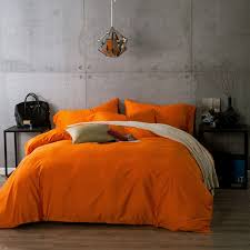 egyptian cotton duvet cover orange and get free on aliexpress com