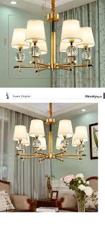 Großhandel Moderne Kupfer Kronleuchter Schmiede Led Kronleuchter Beleuchtung Gold Leuchten Led Hängelampe Mit Glasschirm Für Wohnzimmer Von