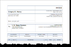 Creating An Invoice Best Invoice Automated For Word