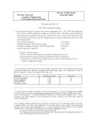 Bitumen Sand Mix Design Marshall Excises For Hot Mix Asphalt Docsity