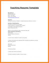 How To Write Resume For Teaching Job Make Cv Format Jobs Sample