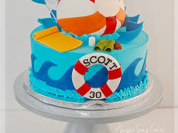 Beach Ball Cake Decorations Pool Party Beach Ball Cake CakeCentral 1