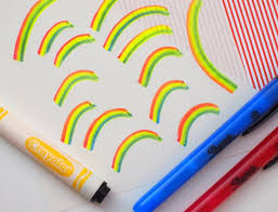 how to make a diy rainbow marker in under a minute