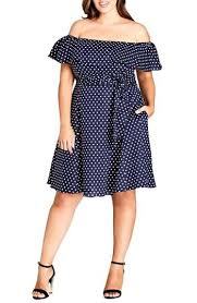 City Chic <b>Sweet Off the</b> Shoulder Fit & Flare Dress   Fit flare dress ...