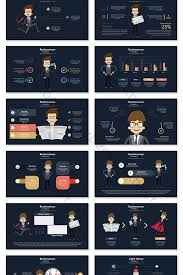 40 Page Business Office Villain Information Visualization