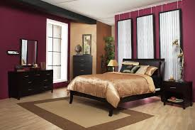 red wall paint black bed: master bedroomdecorating with old red wall paint colors and black