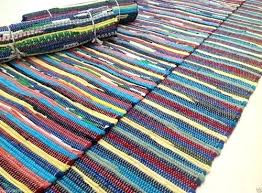 cotton rag rug washable cotton rag rug fab recycled hand loomed multi coloured runner cm x cotton rag rug