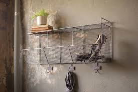 wire wall storage baskets with hooks