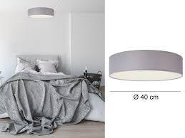 Design Deckenleuchte Ceiling Dream Rund ø40cm Stoff Schirm Grau