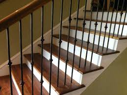 iron spindles for stairs astonishing fashionable wrought replacing wooden stair baers interiors 22