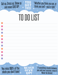 Free Inspiring To Do List Printable Pdf Graphic