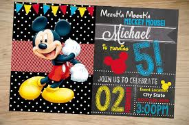 Mickey Mouse Birthday Card Template 31 Mickey Mouse