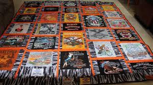Harley-Davidson Motorcycle Quilt   Lady Bird Quilts & Harley-Davidson T-Shirt Quilt Adamdwight.com